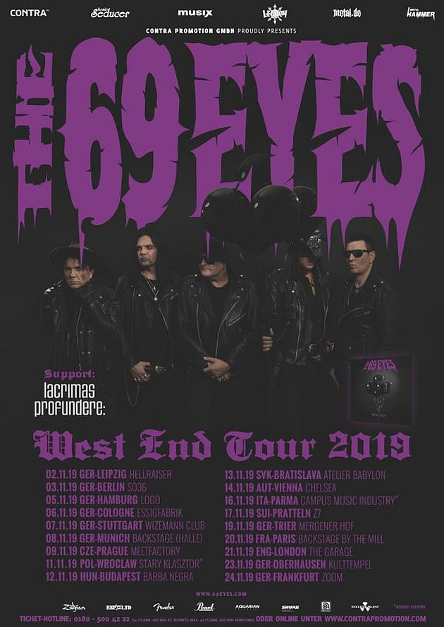 69 eyes west end tour
