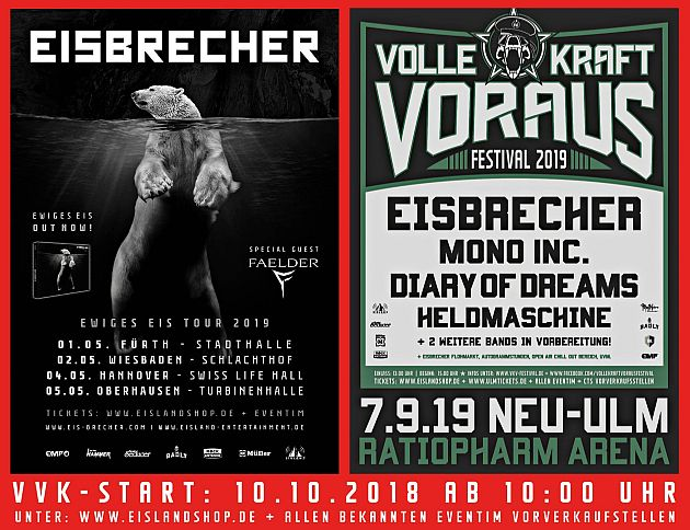 eisbrecher tour2019 vkv2019 flyer