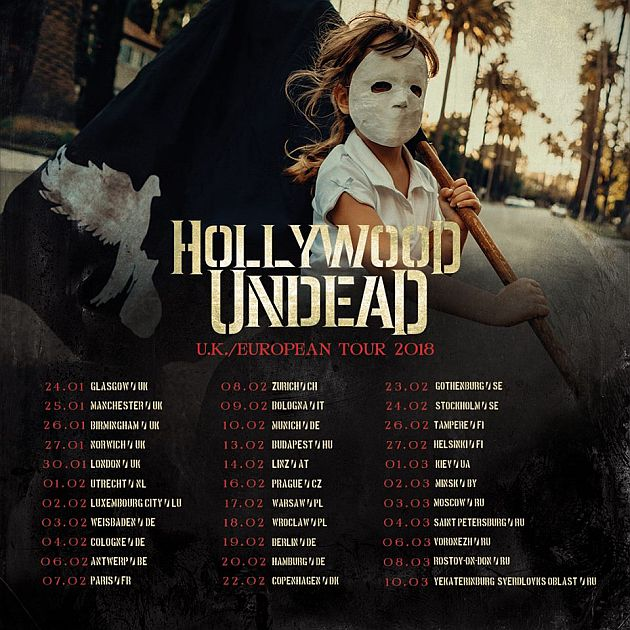 hollywoodundead tour2018