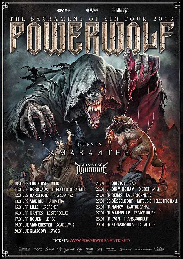 powerwolf tour2018