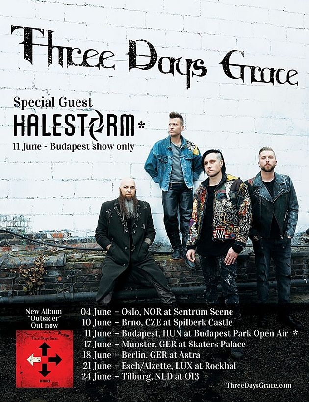 threedaysgrace europeantour2019