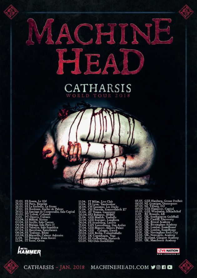machinehead catharsistour2018