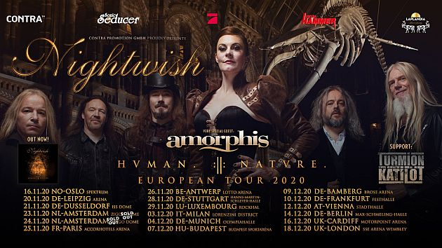 nightwish amorphis2020